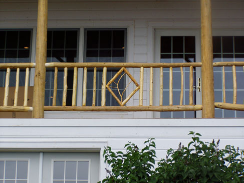 Rustic Stairs Log Railings To By Eddy Enterprises Inc
