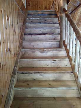 Closed Log Stairs