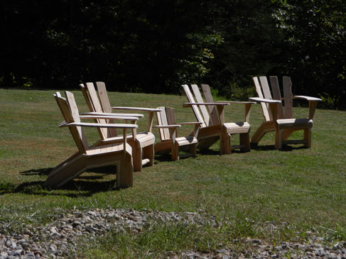 Natural Cedar Adirondack Chairs