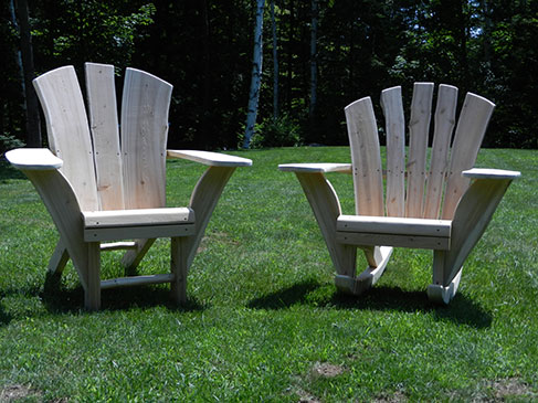 Natural Cedar Rocker & Chair
