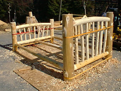 Adirondack rustic bed frames pictures to pin on pinterest pinsdaddy - Adirondack bed frame ...