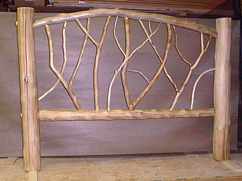 Adirondack rustic furniture art by eddy enterprises inc Adirondack bed frame