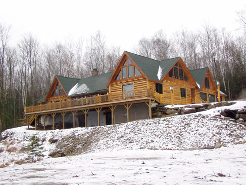 Log Home 3 - Front View