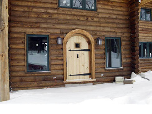 Log Home 4 - Custom Door