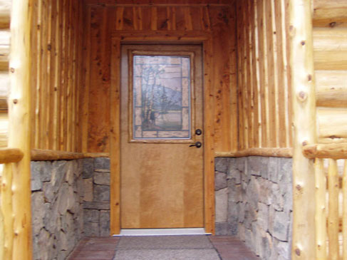 Log Home 3 - Entry Way