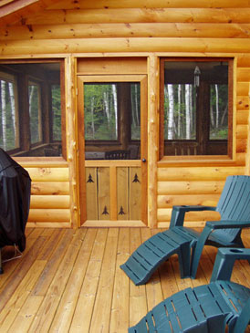 Log Home 7 - Screen Porch